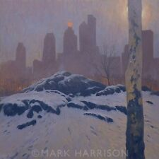 "BEAUTIFUL ORIGINAL MARK HARRISON ""Central Park South"" New York USA OIL PAINTING"