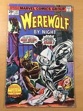 MARVEL Comics WEREWOLF BY NIGHT #32 1st MOON KNIGHT! Rare KEY Ships FREE! GD/VG!