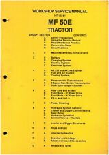 MASSEY FERGUSON MF50E TRACTOR LOADER BACKHOE DIGGER MF 50E WORKSHOP MANUAL