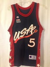 Vintage Grant Hill 1996 Dream Team Olympics Champion Jersey Size 36 Duke Pistons