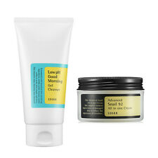 [SET] [Cosrx] Advanced Snail 92 All in one Cream + Ph Good Morning Gel Cleanser