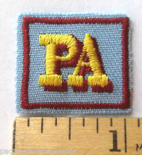 Girl Scout Senior PA PROGRAM AIDE AWARD Patch Official Leadership Troop Service