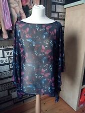 NEXT SHEER BUTTERFLY TOP NEW NO TAGS UK 20