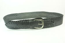 CLASSIC LADIES BLACK CRISS-CROSS LOW RIDER BELT WITH SILVER TONE BUCKLE (SC17)