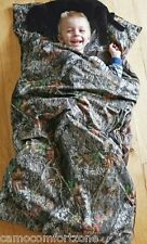 NIP KIDS MOSSY OAK CAMO CAMOUFLAGE SLUMBER SLEEPING BAG LAB DOG PILLOW SET