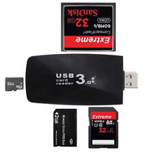 USB 3.0 All in1 Flash Memory Card Reader Adapter for SD SDHC MMC Micro TF CF XD
