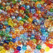 Lot Mix 8000 Perles de Rocailles en verre Transparent AB 2mm 100g (12/0)