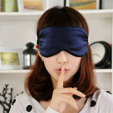 Pure Silk Sleep Rest Eye Mask Padded Shade Cover Travel Relax Aid Blindfolds ZY