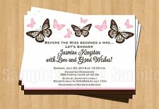 BUTTERFLY Birthday Party Bridal Shower Personalized Invitations CUTE ANY COLOR