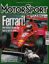 Motor Sport Nov 1998 - Enzo Ferrari, Dan Gurney, Drag Racing, Francois Cevert