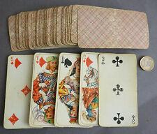 Jeu de  54 cartes à jouer anciennes fin 19e siècle
