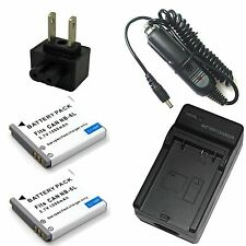 Charger + 2x Battery for Canon PowerShot SD1300 SD3500 IS SD4000 IS Digital ELPH