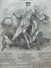 ANTIQUE PRINT 1884 PUNCH OR THE LONDON CHARIVARI APOTHEOSIS OF DODSON POLITICAL