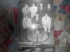 1977-78 WASHINGTON PANTHERS BASKETBALL MEDIA GUIDE Yearbook HS Ilinois 1978 AD