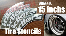 idlers Speedhunters TireBomb Custom tire stencil Decals JDM Wheels 15'' Drift