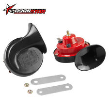 Universal 2x 12V 135DB Loud Car Motorcycle 510hz Dual-tone Snail Air Horn Siren
