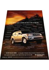 2001 Toyota Sequoia -  Vintage Advertisement Car Print Ad J424