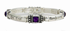 4031657 God First Family Second Career Third MK Stretch Bracelet Mary Consultant