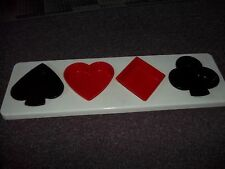 poker face card suit dip or relish tray heart,diamond, spade, club hard plastic