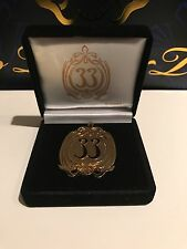 Disneyland Club 33 Exclusive Large Gold Tone Logo Pin MINT New in Box
