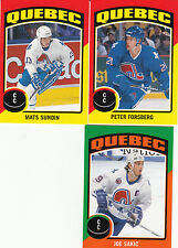 14/15 OPC Quebec Nordiques Sticker Team Set Sakic Forsberg +