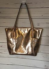 Michael Kors Jet Set Tote Bag Gold Metallic Mirror Shopper MK
