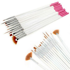 12 tlg Nagel Pinsel Set Nail Art Stift Painting Brushes Dotting Pen Tools Neu