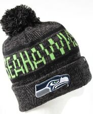 NFL Seattle Seahawks Northmont Cuff Knit Adult Beanie Hat with Pom
