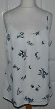 ✿GEORGE CREAM, BLACK & GREY BUTTERFLY / FLORAL STRAPPY CAMI OCCASION TOP UK 16✿