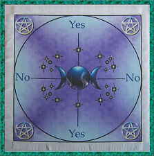 Triple Moon Scrying/Dowsing Mat ideal for use with a pendulum, Wicca divination