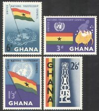 Ghana 1959 UN Trusteeship Council/Drummer/United Nations/Drums/Flags 4v (n39586)