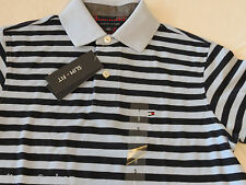 Men's Tommy Hilfiger Polo shirt stripe knit logo 7845165 Covington Blue S Slim