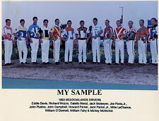 "1993 HARNESS HORSE RACING 8"" x 10"" PHOTO JOHN CAMPBELL EDDIE DAVIS JACK MOISEYEV"