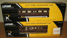 "K-LINE LIONEL 22420 PENNSYLVANIA BROADWAY ALUMINUM 18"" PASSENGER 2 CAR TRAIN SET"