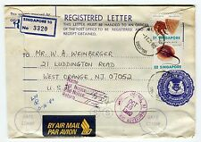 SINGAPORE - Registered mail 3320, letter stationery, returned mail 1980 (S25)