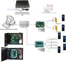 6 Doors IP Control Full Kits Central Software Management Door Access Control Set