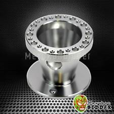 FOR MITSUBISHI LANCER 1988-2004 BILLET 6 BOLT STEERING WHEEL HUB ADAPTOR CHROME
