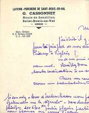 45 SAINT-DENIS-EN-VAL CASSONNET LAITERIE PORCHERIE 1945
