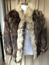 vintage raccoon fur heavy short coat S