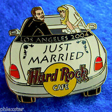 LOS ANGELES CONVERTIBLE CAR JUST MARRIED COUPLE BLONDE BRIDE Hard Rock Cafe PIN