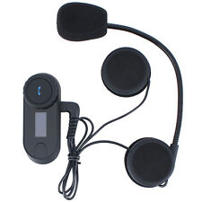 800M LCD BT Wireless Motorcycle Helmet Intercom Bluetooth Interphone Headset FM
