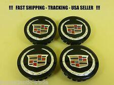4 x CENTER CAP FOR CADILLAC WHEELS HUB CAPS BLACK ATS CTS DTS SRX STS XLR XTS