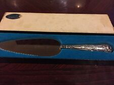 Decorative sterling silver Pie Server, Hallmarked and in box