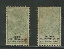 Bechuanaland: Scott 18-19, year 1887, mint, hinged, rust stain, cat:155 $. BE02