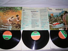 3 LP Woodstock Hendrix Canned Heat The Who Santana Neil Young - 1970 # cleaned