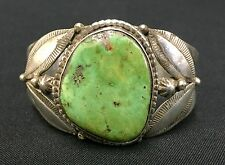 Turquoise & Sterling Cuff Bracelet *Native American Indian* -A. Tsosie (Navajo)