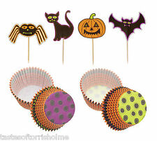 Kitchen Craft Halloween Set De 24 Cup Cake casos & Bat, Calabaza & cattoppers
