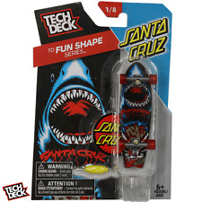 New Tech Deck SANTA CRUZ Skateboards Fingerboards Fun Shape Series Shark SK8