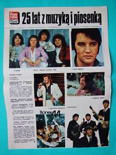 ►►POLISH old article 80' Elvis Presley The Beatles Smokie Boney M Czeslaw Niemen