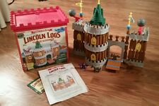 Vintage LINCOLN LOGS King's Palace Castle Kingdom COMPLETE SET Knights REAL WOOD